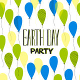 Earth day party lettering Royalty Free Stock Images