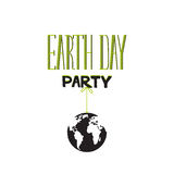 Earth day party lettering Stock Photography
