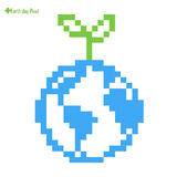 Earth Day Pixel. Save the Earth concept. Royalty Free Stock Photos