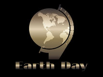 Earth Day. Planet earth in the style of art deco 20s. Vector. Illustration royalty free illustration