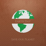 Earth Day. Planet realistic Banner Stock Photography