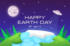 Earth Day. planet. space. ecology. background. Earth Day. planet. space ecology. vector illustration. background stock illustration