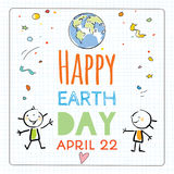 Earth day poster, background Stock Photo