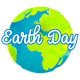 Earth day poster with paint texture. Hand drawn Royalty Free Stock Image