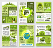Earth Day poster template for ecology design Stock Image