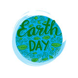 Earth day poster Stock Image