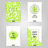 Earth day posters set. Stock Photo