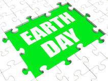 Earth Day Puzzle Shows Environment And Eco Friendly Royalty Free Stock Photos