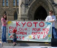 Earth Day Rally in Ottawa Royalty Free Stock Photo