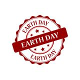 Earth day stamp illustration. Earth day red stamp seal illustration design Stock Image