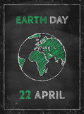 Earth day. Retro poster for Earth day Stock Photos