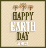 Earth Day retro poster Royalty Free Stock Photography