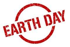 earth day stamp royalty free illustration