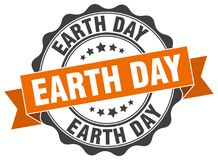 Earth day seal. stamp. Earth day round seal isolated on white background. earth day royalty free illustration