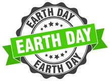Earth day seal. stamp. Earth day round seal isolated on white background vector illustration