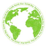 Earth Day Rubber Stamp Stock Photo