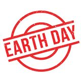 Earth Day rubber stamp Stock Photography