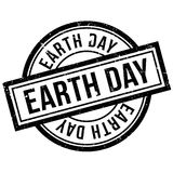 Earth Day rubber stamp Stock Photos