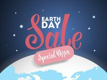 Earth day sale. stock illustration