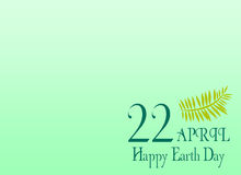 Earth day save the planet illustration april 22 gradient background and leaves Stock Photography