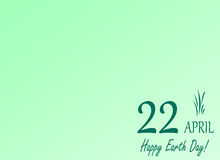 Earth day save the planet illustration april 22 green background and leave Stock Photos
