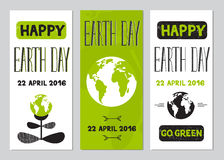 Earth Day set of banners Royalty Free Stock Image