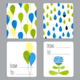 Earth day set of cards Royalty Free Stock Photo