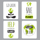 Earth day set of cards Stock Photo