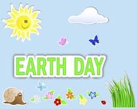 Earth Day. Set stickers. Stock Photography