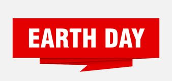 Earth day. Sign.  paper origami speech bubble.  tag.  banner stock illustration