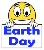 Earth Day On Sign Shows Environment And Eco Friendly Stock Photography