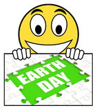 Earth Day Sign Shows Environmentally Friendly Sustainable And Re Stock Images