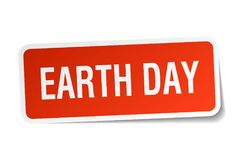 Earth day sticker. Earth day square sticker isolated on white background. earth day royalty free illustration