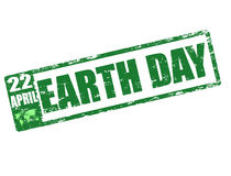 Earth day stamp Stock Image