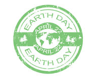 Earth day stamp. Grunge rubber earth day stamp, illustration Stock Images