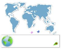 Earth Day. Sticker map. Royalty Free Stock Photography