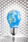 Earth Day Symbol - bulb Royalty Free Stock Images