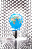 Earth Day Symbol - lightbulb Royalty Free Stock Photo