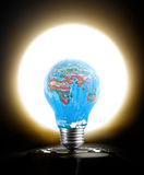 Earth Day Symbol - lightbulb Stock Photos