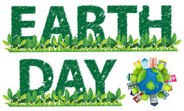 Earth Day. Text and logo on white Stock Photography