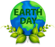 Earth Day. Theme with text Stock Image