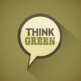 Earth Day Think Green. Concept Abstract Design Royalty Free Stock Photo