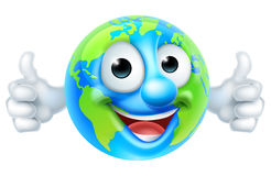 Earth Day Thumbs Up Mascot Cartoon Character Royalty Free Stock Images