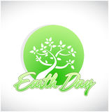 earth day tree graphic and copy sign Stock Photo