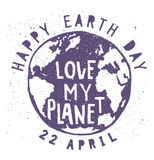 Earth Day vector. 22 April Concept illustration Stock Images