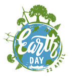 Earth Day vector. 22 April Concept illustration Royalty Free Stock Photo