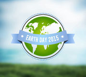 Earth day vector. Digitally generated Earth day vector Royalty Free Stock Photos