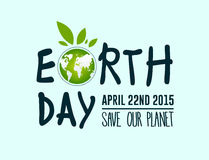 Earth day vector. Digitally generated Earth day vector Stock Photography
