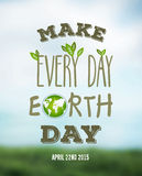 Earth day vector Royalty Free Stock Photography