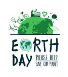 Earth day vector Royalty Free Stock Photos